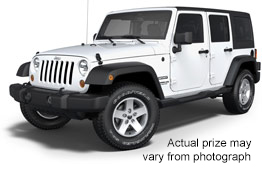 Grand Prize: 2013 Jeep® Wrangler Unlimited